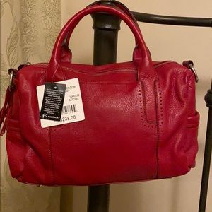 B Makowsky leather satchel handbag